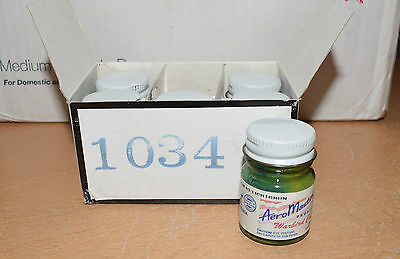 Full Box 6 Bottles Aero Master Warbird Colors Paint 1034 Light Green Floquil