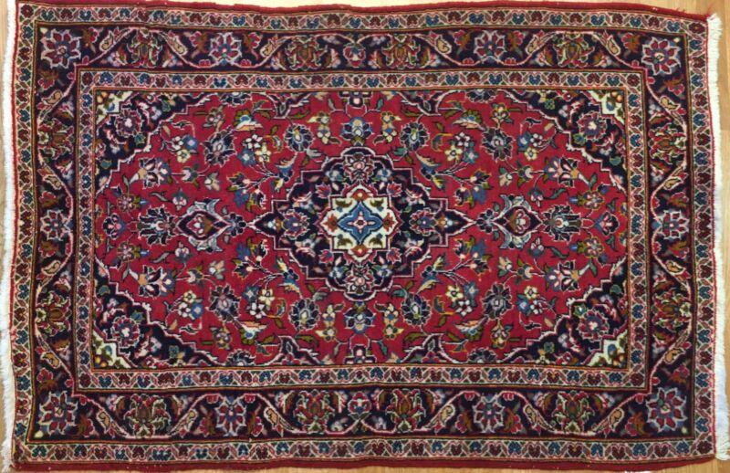 Perfect Persian - 1960s Antique Kashan Rug - Oriental Carpet - 3.5 X 5.2 Ft