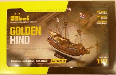 Mini Mamoli 1/110 Golden Hind Wood Ship Model Kit segunda mano  Embacar hacia Argentina
