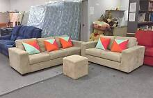 DELIVERY TODAY COMFORTABLE CHOCOLATE 3X2 couches sofas SALE NOW Belmont Belmont Area Preview