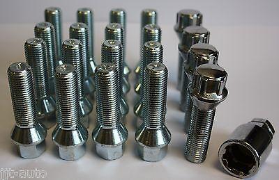 M14 X 1.5 TAPERED 35MM ALLOY WHEEL BOLTS & LOCKING FIT MERCEDES ML W163 W164