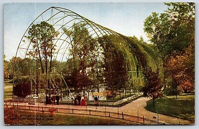 The Bird Aviary Flying Cage at New York Zoological Park Divided Back Postcard