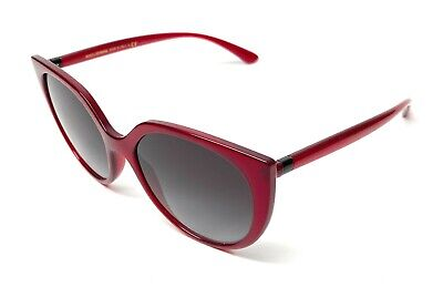 New Dolce & Gabbana DG 6119 1551/8G Burgundy Women Authentic Sunglasses 54-17-A8