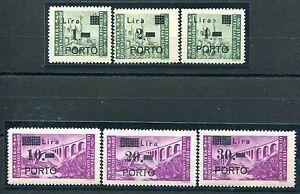 Istria-Occ-Jugoslava-Segnatasse-serie-completa