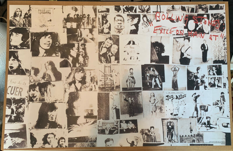 "2002 Rolling Stones Exile On Main Street 22""x34"" Rock n Roll Concert Poster 🔥"