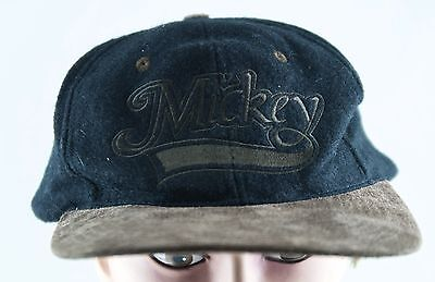DISNEY MICKEY MOUSE GRAY BASEBALL HAT LEATHER BILL ADULT Goofy's Hat Co