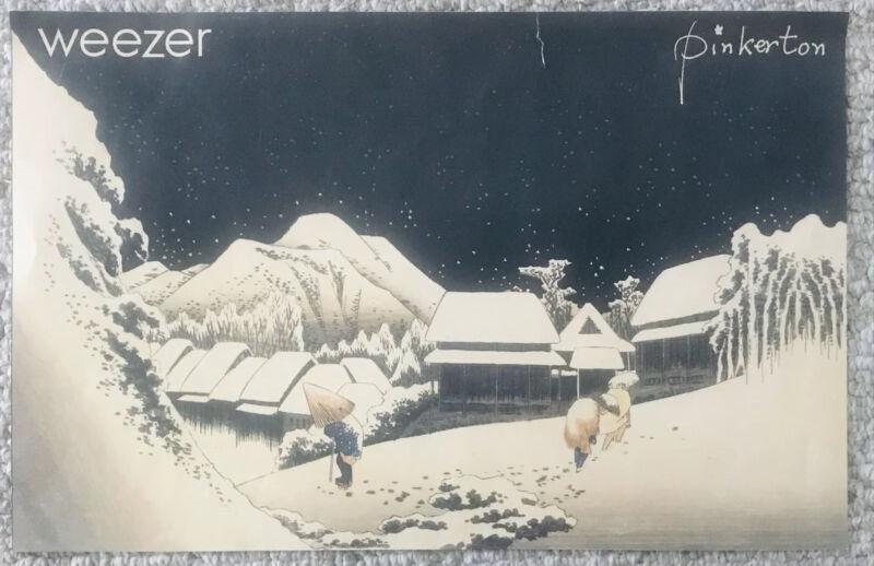 WEEZER US PROMO POSTER 2-SIDED 1996 PINKERTON ORIGINAL 11X17 SM TAPED TEAR VG+