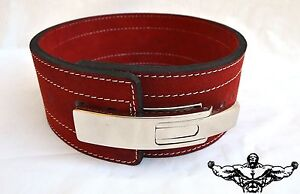 Quest-Varsity-Lever-Belt-Weightlifting-Powerlifting-Strongman-RED