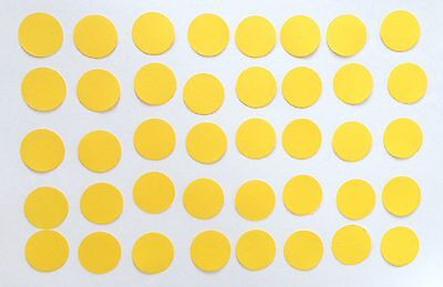 40 Kreise 2,5 cm Gelb Tonpapier Stanzteile/Streuteile/Dekoteile (Gelber Kreis Papier)