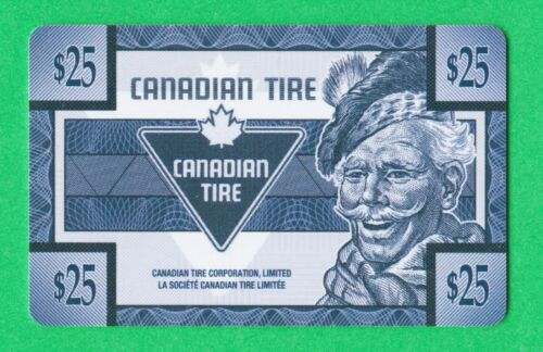Canadian Tire Money - Depleted empty  Gift Card Sandy 25 collector value only