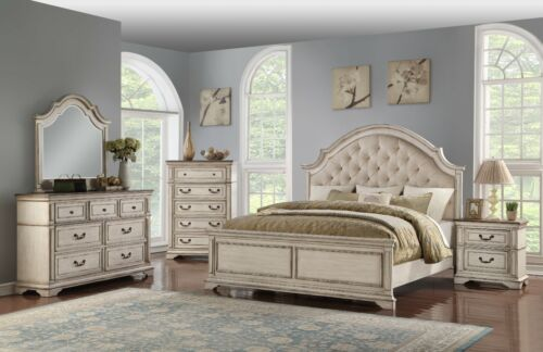 New Classic Furniture Anastasia Antique Queen 6 Piece Bedroom Set