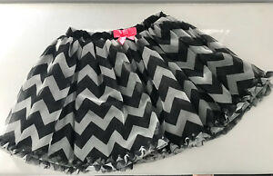 Adorable chevron-print tulle skirt - worn once SZ 7-8