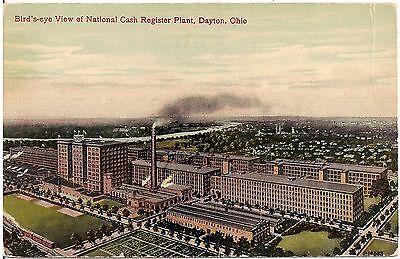 Bird's Eye View of National Cash Register Plant in Dayton OH Postcard