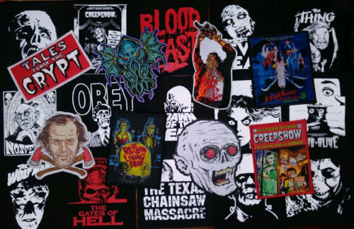 Random Lot of 10 HORROR PATCHES - Monsters, Halloween, horror movies