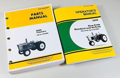 Operator Parts Manual Set For John Deere 3020 Tractor Catalog Sn Up To 67999