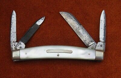 Vintage Antique Folding Pocket Knife Walden Knife NY Congress Pearl 1874-1923!!!
