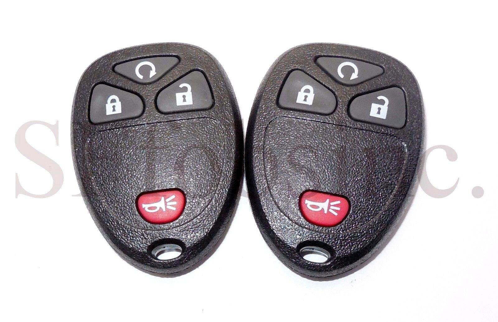 NEW PAIR GMC CHEVY BUICK KEYLESS REMOTE CLICKER TRANSMITTER OUC60221 OUC60270