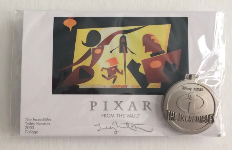 Disney Pixar The Incredibles From the Vault Pin & Print LE 750  2016