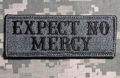 EXPECT NO MERCY USA ARMY BADGE ACU DARK HOOK MORALE PATCH