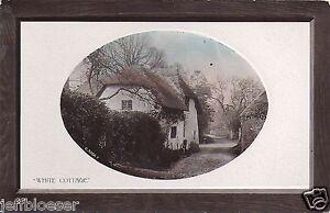 GREETINGS-RPPC-White Cottage-Real Photo-Country-Vintage Estate Lot Collectible