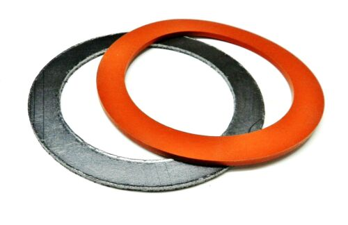 """3"""" Gaskets Silicone Rubber & Graphite Set for Vacuum Casting Perforated Flasks"""