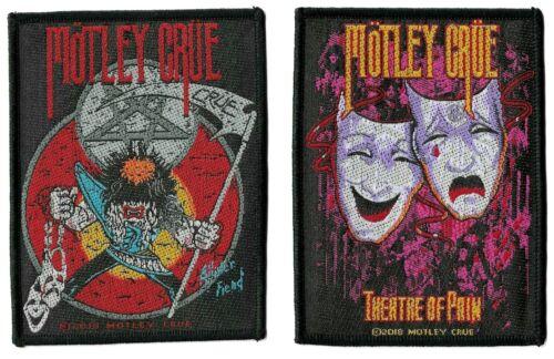 Motley Crue Theatre of Pain & Allister Fiend Crüe Patch Lot Logo Emblem Patches