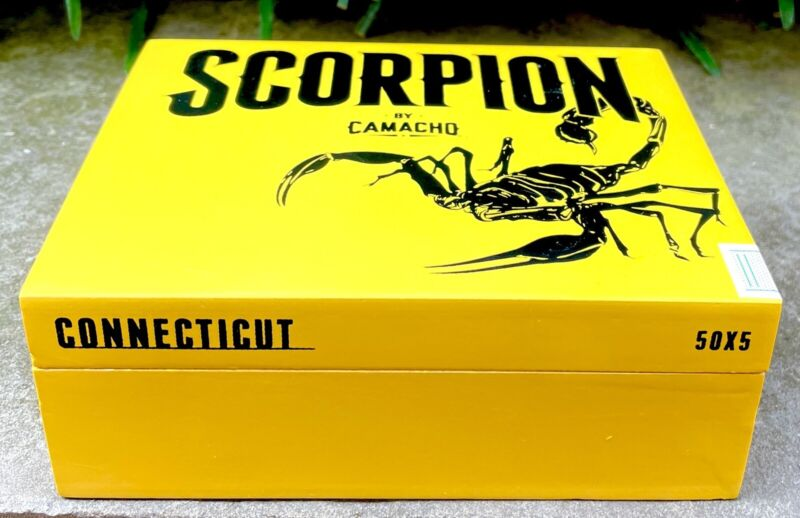 Camacho Scorpion Empty Cigar Box - Yellow