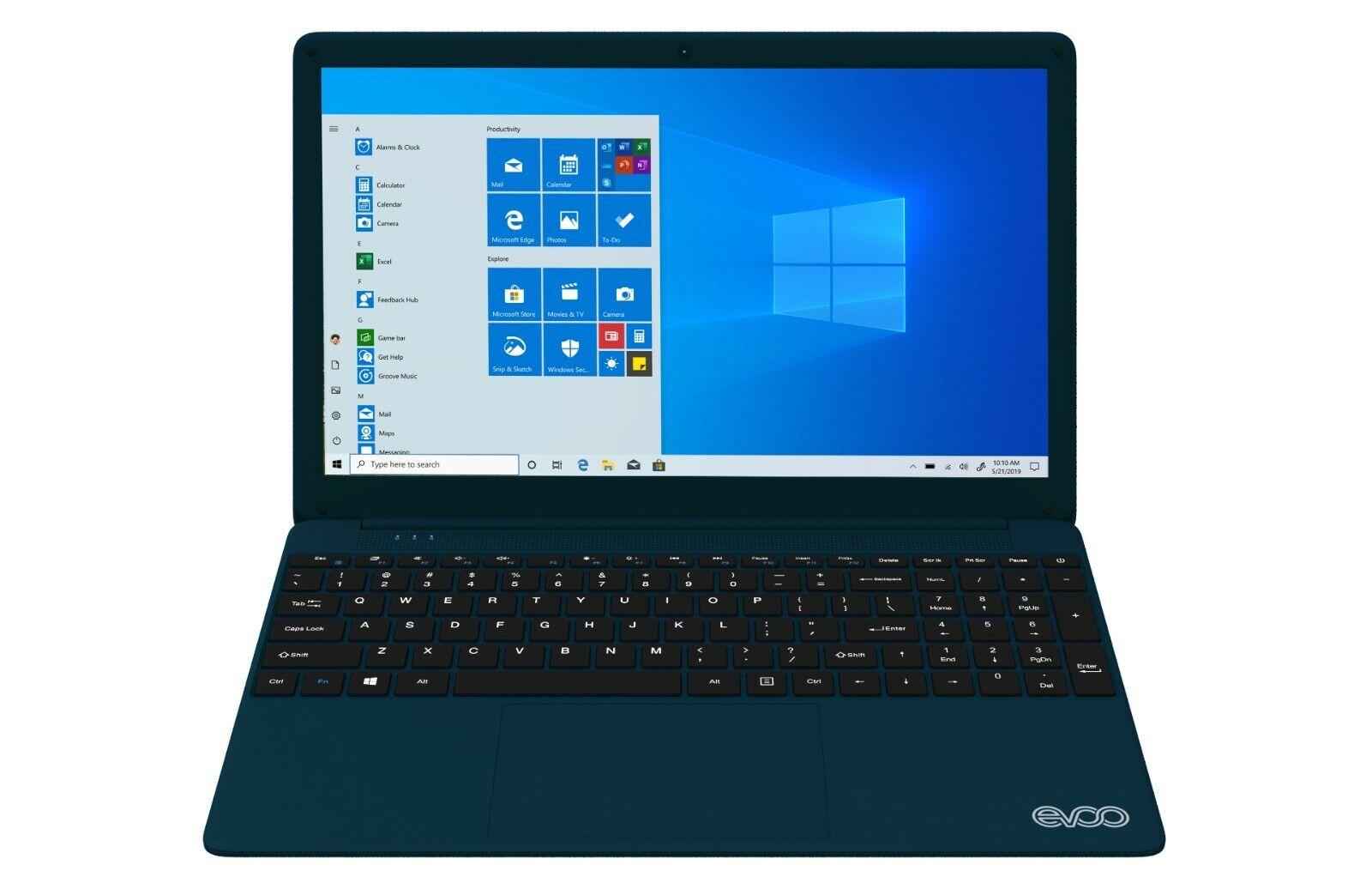 """EVOO 15.6"""" FHD Ultra Thin Notebook, Intel® Core™ i7, 8GB RAM, 256GB SSD, Windows"""