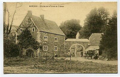 CPA - Carte Postale - Belgique - Marchin - Entrée de la Ferme du Château - 1925