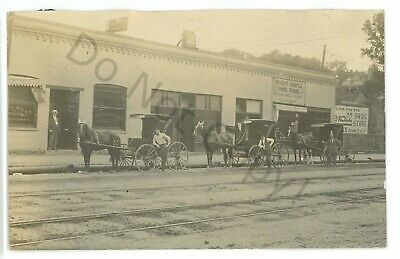 RPPC Tri City Sample Shoe Store DAVENPORT IA Iowa Real Photo (Davenport Stores)