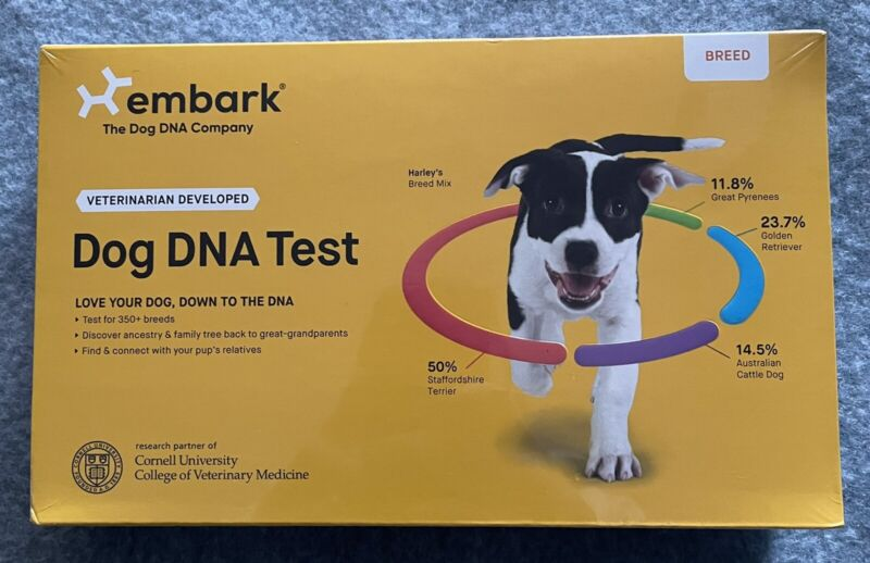Embark The Dog DNA Company. Dog Breed DNA Test. 350+ Breeds. New/sealed