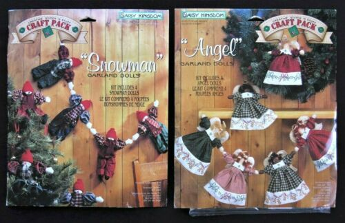 2 Daisy Kingdom Garland Dolls Kits Angel Snowman