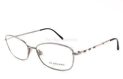 BURBERRY 1256 1003 Eyeglasses Optical Frames Glasses Gunmetal Nova Plaid ~ 53mm