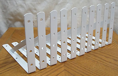 10 Heavy Duty White Steel 12  X 8  Shelf Brackets  500 Lb Metal Lot L Countertop