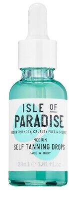 ISLE OF PARADISE MEDIUM Self Tanning Drops 1.01 oz / 30ml FULL SIZE