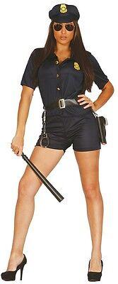 Damen Polizei Outfit (Damen Sexy Law & Order Polizei Polizist Uniform Kostüm Kleid Outfit 14-18)