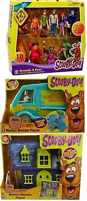 Scooby Doo Mystery Mansion Machine  Van  10 Pk Figures Fred Shaggy Velma Daphne