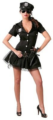 Damen Polizei Outfit (Damen Sexy American Offizier Polizei Cop Uniform Kostüm Kleid Outfit 12-14)