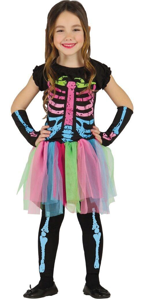 Multicolore # Scheletro Vestito Ragazza o Book Week per Halloween