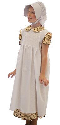 Welttag des Buches/Viktorianisch/Edwardianisch Blumenmuster Kleid, Schürze &