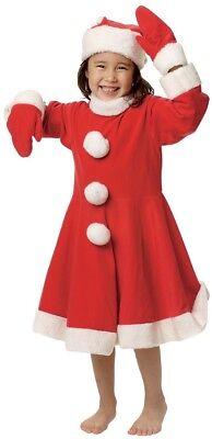 Kleinkind Mädchen Mrs Weihnachtsmann Weihnachten Festlich Kostüm Kleid Outfit