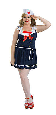 an Retro Blue Cute Dress Up Halloween Sexy Adult Costume (Cute Sailor Kostüme Halloween)