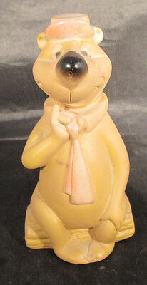 """Yogi Bear Hanna-Barbera Rare Rubber Squeeze Squeak toy by Dell 5 1/2"""" Tall"""