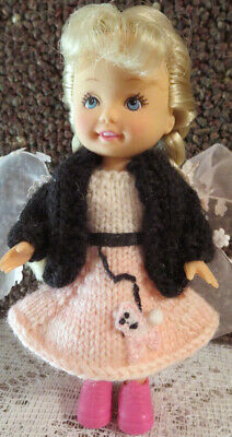 White Dress Pink Shoes (OOAK for KELLY ~ PINK & WHITE KNIT POODLE SKIRT DRESS w/BLACK SWEATER &)