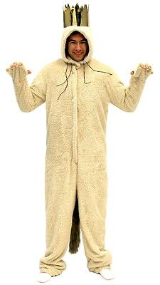 Adult Book Movie Where the Wild Things Are Max King Wolf Suit Jumpsuit Costume](Wild Things Max Costume)