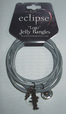 "The Twilight Eclipse ""Logo"" Jelly Bangles Bracelet NIP"