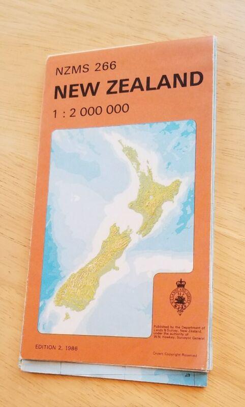 NZMS 266 New Zealand 1:2 000 000 Map Department Of Lands & Survey 1986 Rare htf