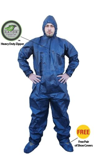 ShuBee® Waterproof Hydroshield Coveralls Dark Blue - L
