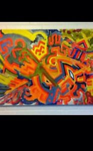 "Acrylic on Canvas Painting ""Neon Cultura"" Wembley Cambridge Area Preview"