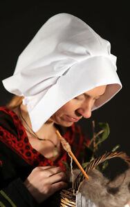 Medieval/LARP/SCA/Re enactment/Ladies Bonnet-Coif- Head covering or Headdress